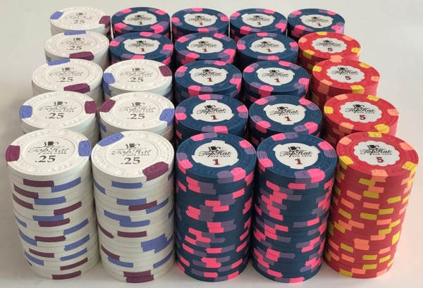 Top Hat & Cane Paulson Poker Chips