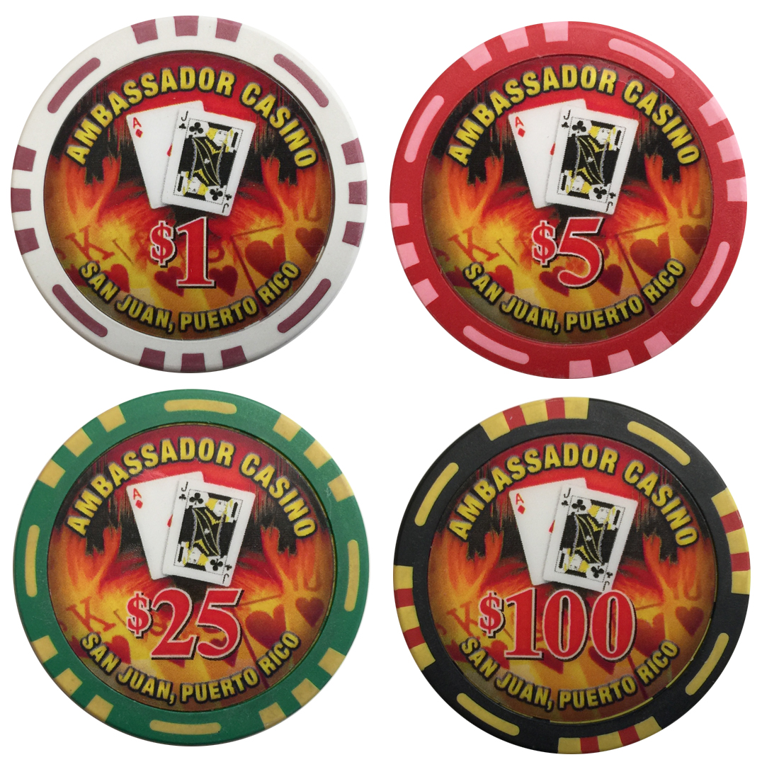 Ambassador Casino Poker Chips