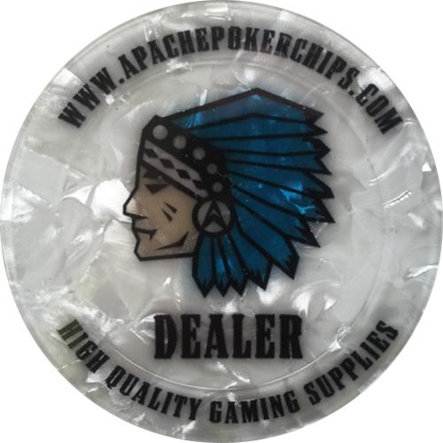 Apache Poker Chips Dealer Button