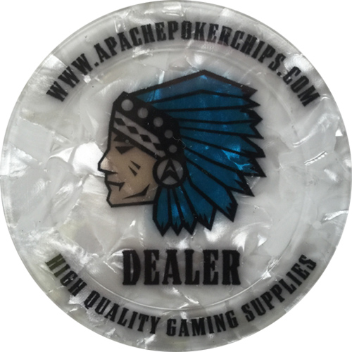 Apache Poker Chips Dealer Button