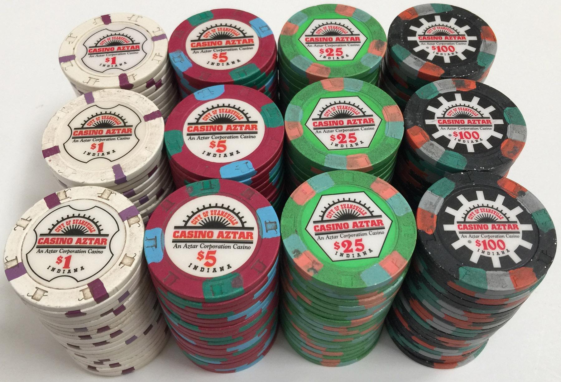 Casino aztar poker chips