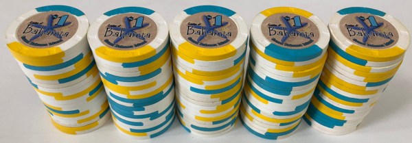 $1 Bahamia Casino Paulson Poker Chips