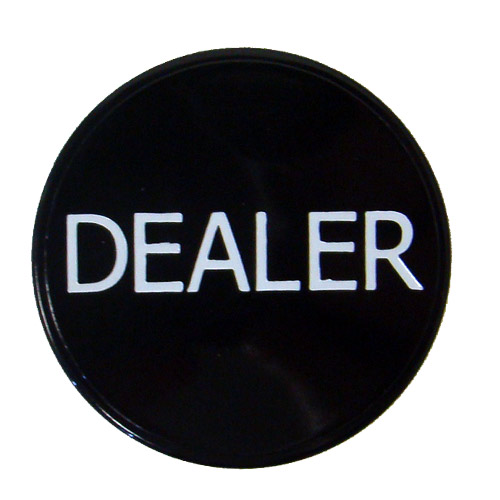 Black Dealer Button