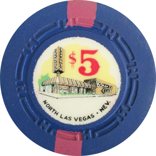 $5 Bonanza Club Las Vegas Casino Chip