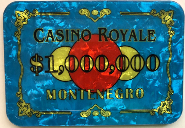 Casino Royale $1,000,000 Poker Plaque James Bond