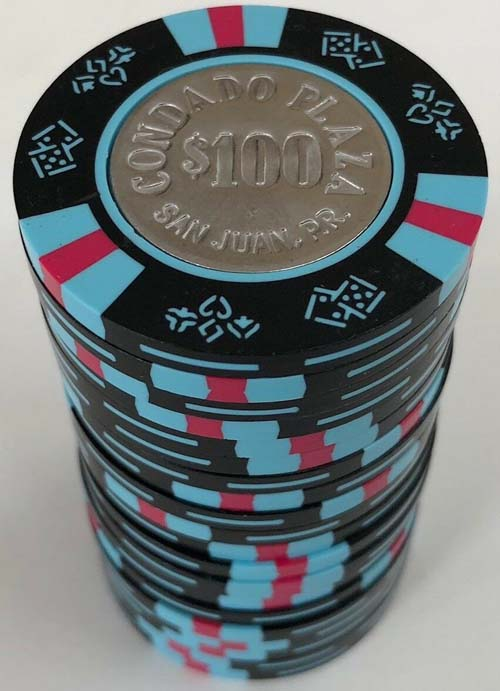 Barrel of Condado Plaza $100 Casino Chips