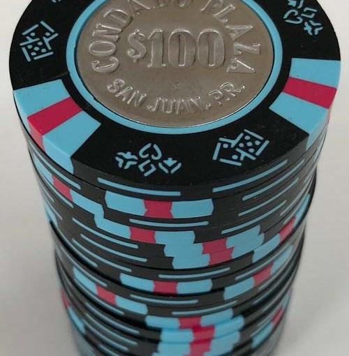 Barrel of Condado Plaza $100 Casino Chips