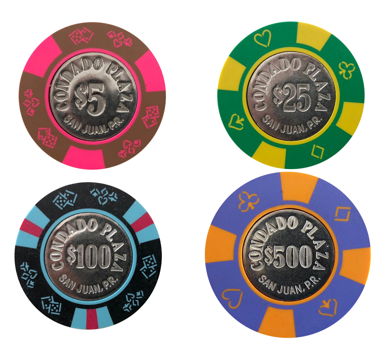 Condado Plaza Casino Bud Jones Poker Chips