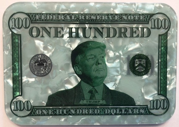 $100 Donald Trump Poker Plaque