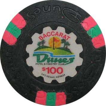 $100 Dunes Las Vegas Casino Chip