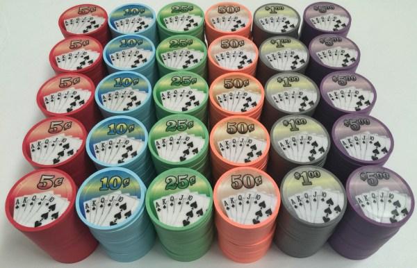 Paulson Fan Of Cards Poker Chips