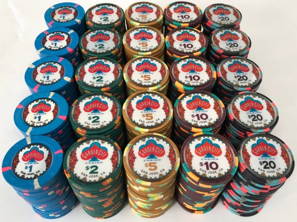 Garden City Casino Paulson Poker Chips
