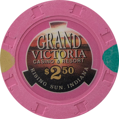 Grand Victoria Casino Quarter Poker Chip