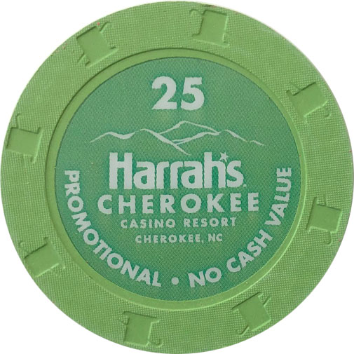 Harrahs Cherokee Casino Paulson Poker Chips