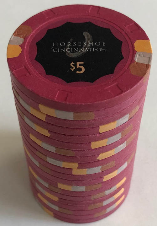 Horseshoe Casino Cincinnati Paulson Poker Chips Barrel