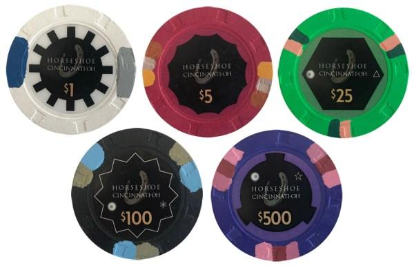 Horseshoe Cincinnati Casino Poker Chips