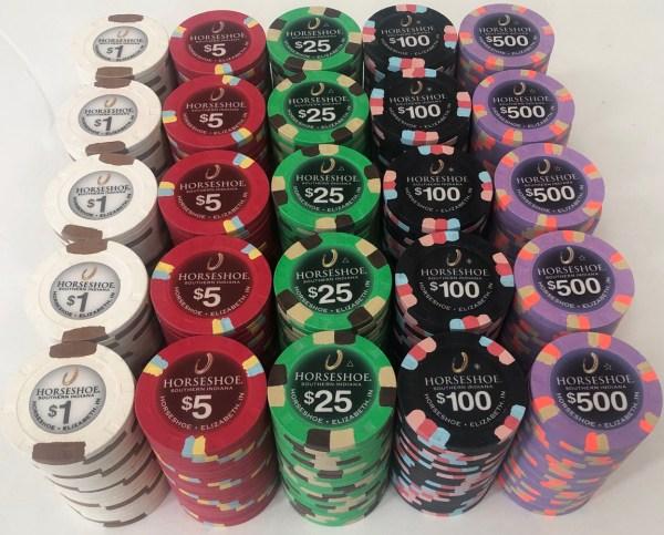 Horseshoe Casino Indiana Paulson Poker Chip Set