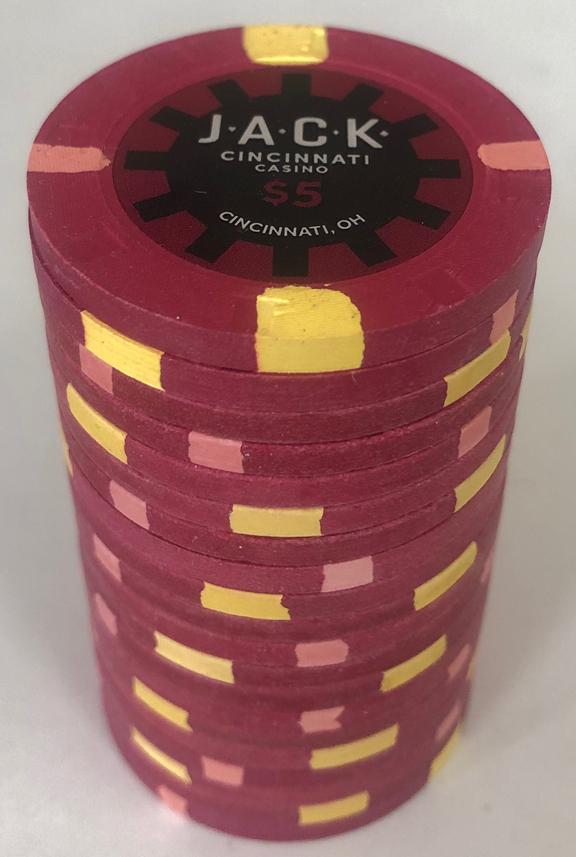 Jack Casino Cincinnati $5 Poker Chips