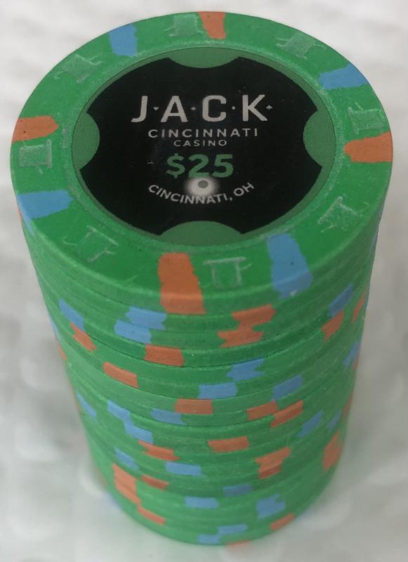 Jack Casino Cincinnati $25 Paulson Poker Chips