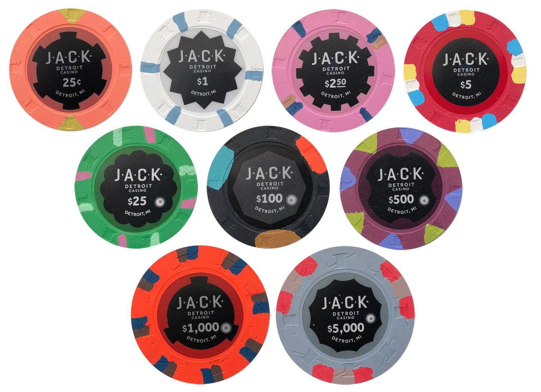 Jack Casino Paulson Poker Chip Sample Set