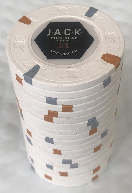 Jack Casino Cincinnati $1 Paulson Poker Chips