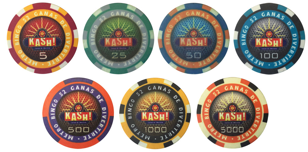 Kash Casino Huxley Poker Chips