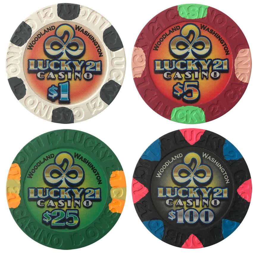 Lucky 21 Casino Paulson Poker Chips