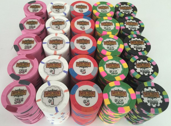 Mark Twain Paulson Poker Chip Set