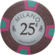 Milano Poker Chips - 25¢ Milanos chips