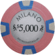Milano Poker Chips - $5000 Milanos chips