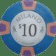 Milano Poker Chips - $10 Milanos chips