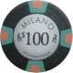 Milano Poker Chips - $100 Milanos chips