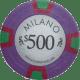 Milano Poker Chips - $500 Milanos chips