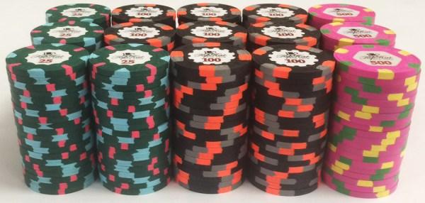 Paulson Top Hat & Cane Poker Chip Set