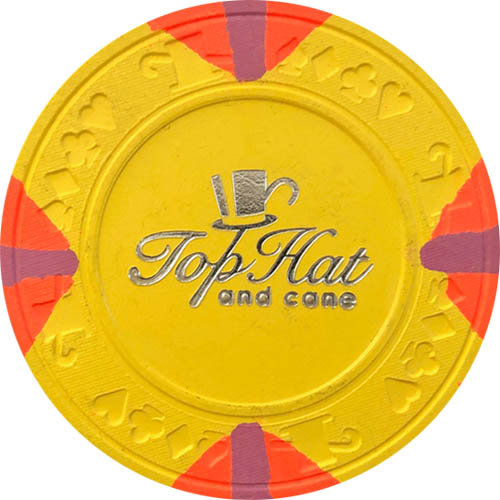 Paulson Top Hat & Cane No Cash Value Poker Chips