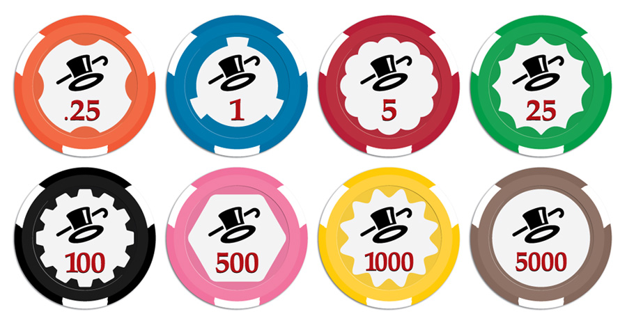 Paulson Top Hat Poker Chips