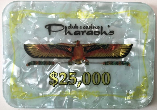 Pharaoh's Casino $25000 Poker Plaque