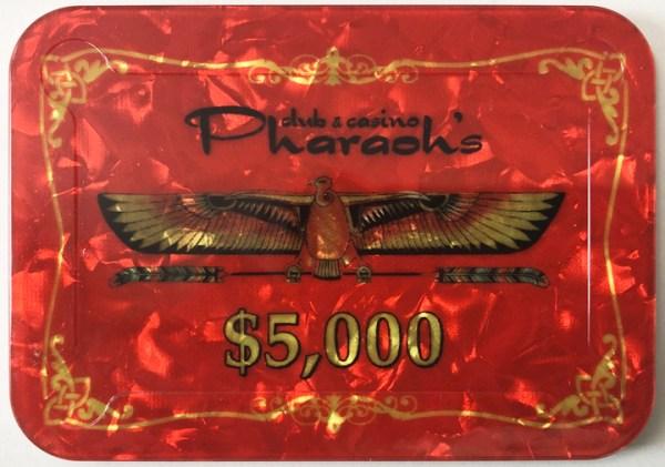 Pharaoh's Casino $5000 Poker Plaque