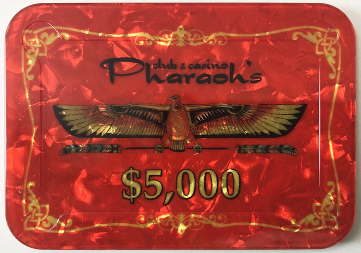 Pharaoh's Casino $5000 Poker Plaque