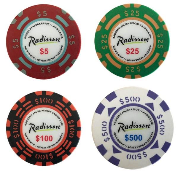 Radisson Aruba Matsui Poker Chips