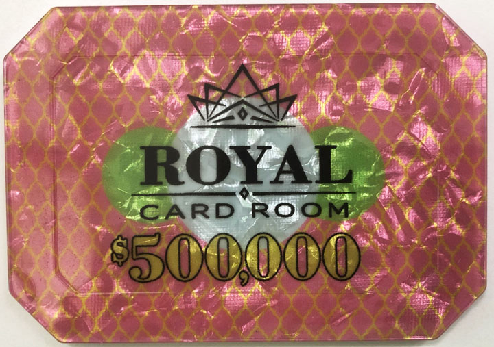 $500,000 Royal Poker Plaque