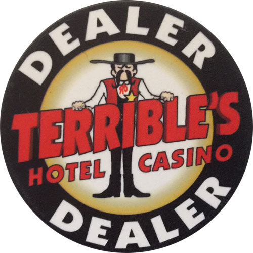 Terrible's Casino Dealer Poker Button
