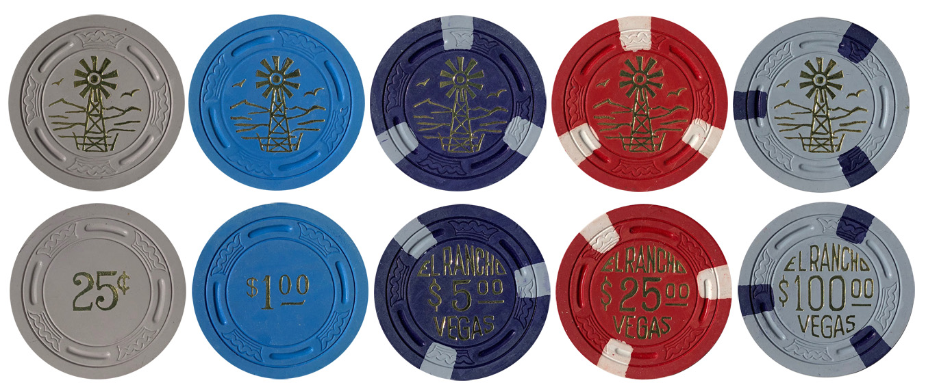 El Rancho Vegas TR King Poker Chips