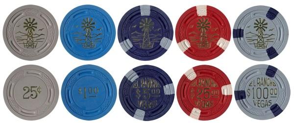 El Rancho Vegas TR King Poker Chips