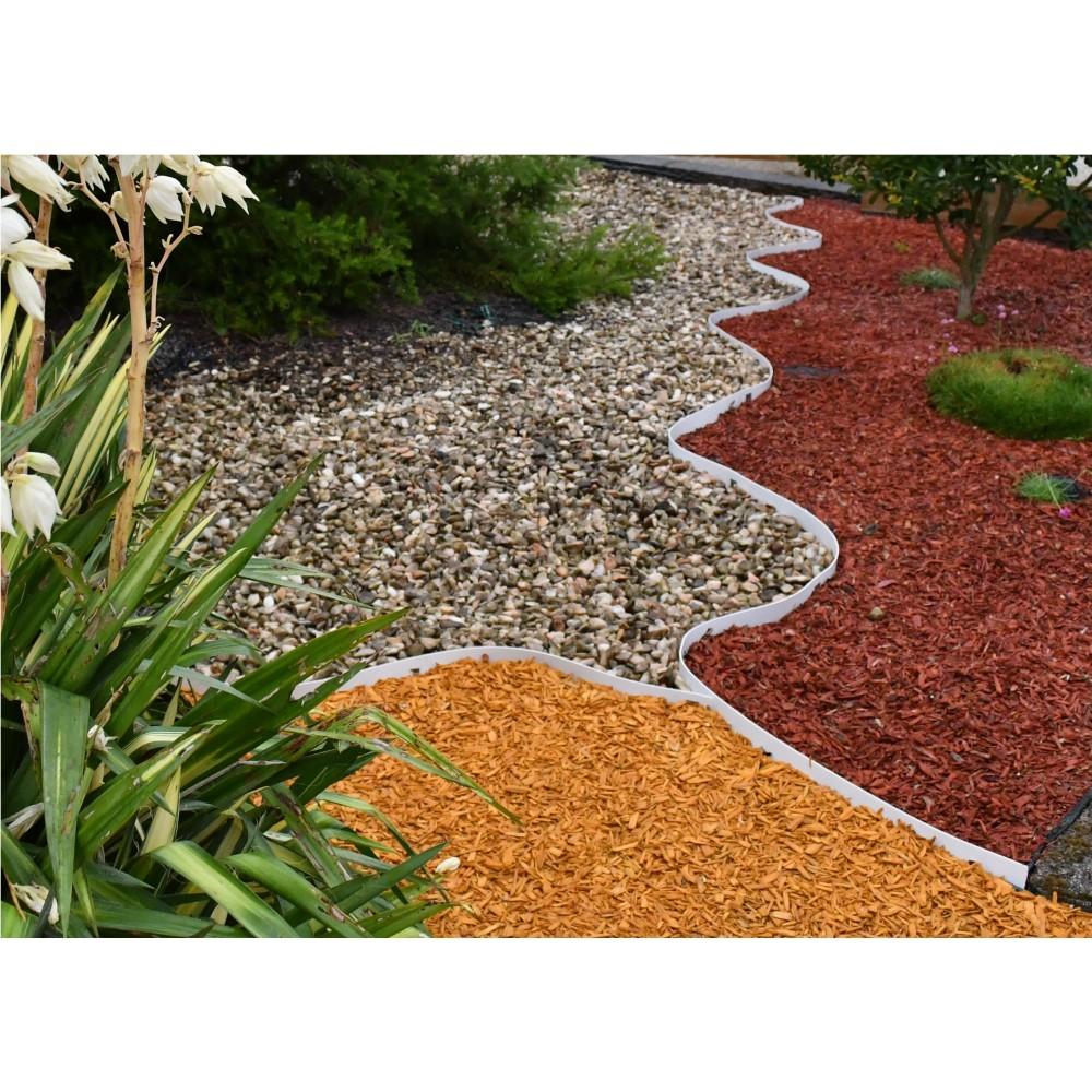 bordures volige jardin pvc blanc