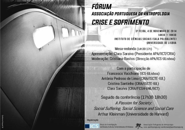 Cartaz Fórum APA Crise e Sofrimento_NET