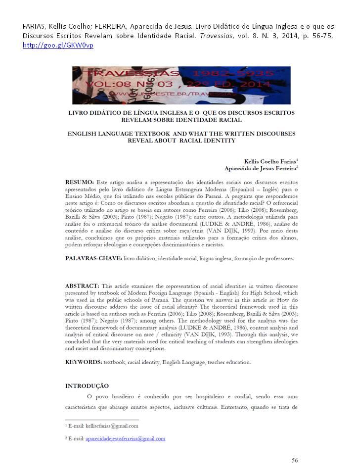 2014 artigo Livro didatico [Farias & Ferreira] referencia
