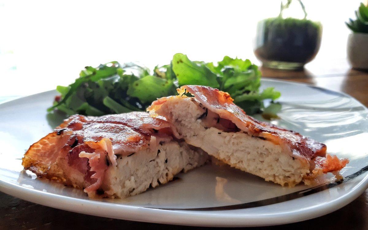Recette : poulet au bacon et au parmesan