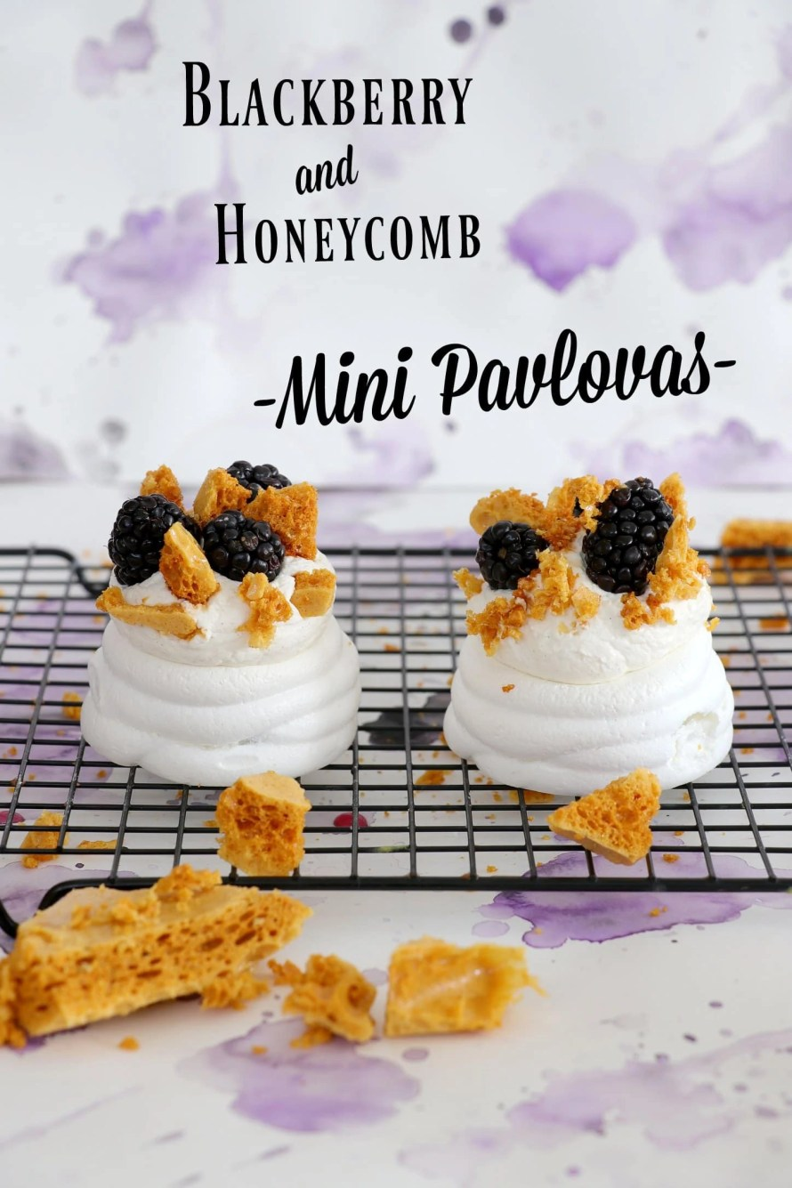 Blackberry and Honeycomb Pavlova