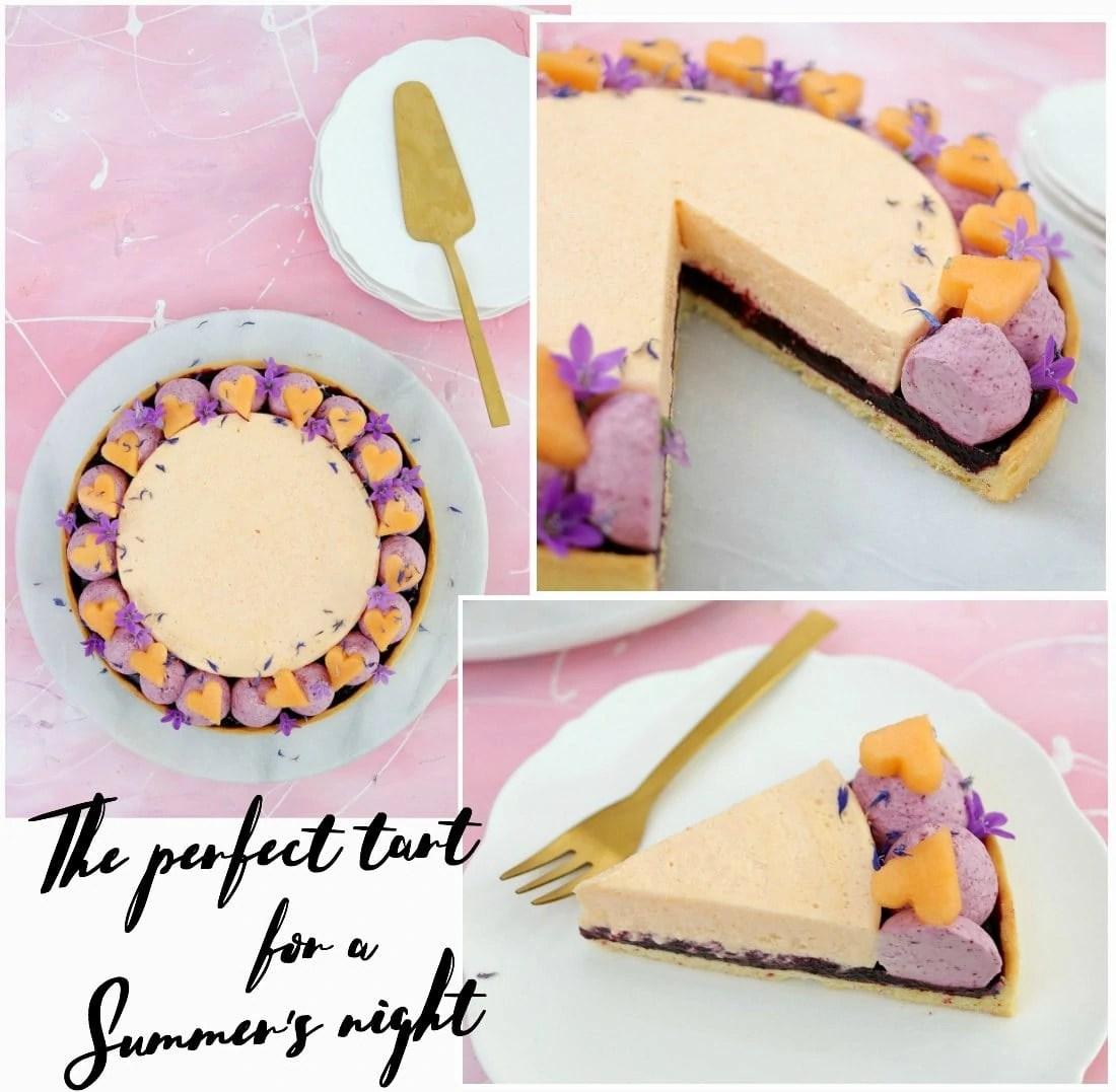 Tarte Estivale au Melon et au Cassis (Rockmelon and Blackcurrant Summer Tart)